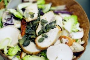 Vert midi salade